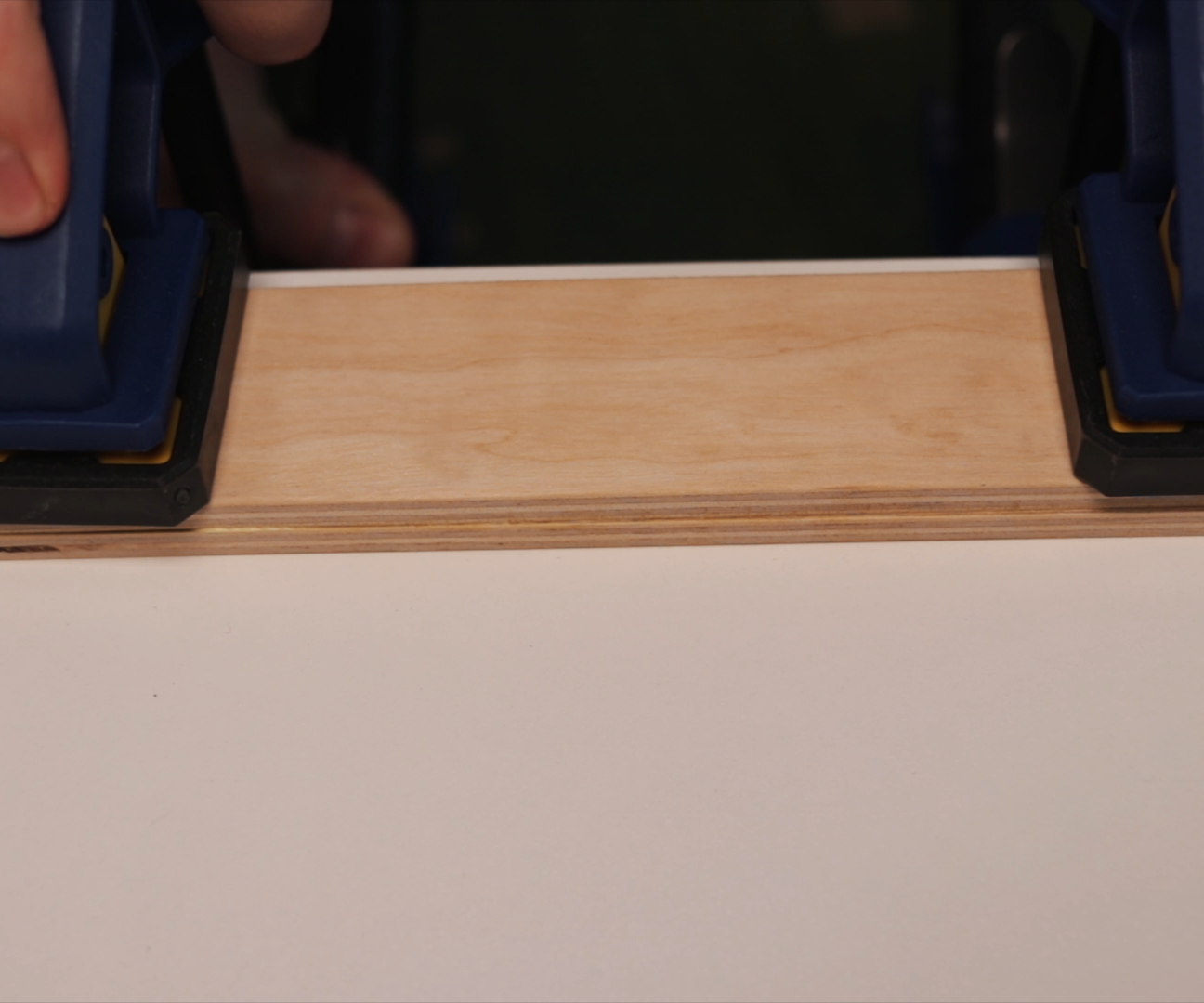 Picture of Gluing Back Side Part of the Stand