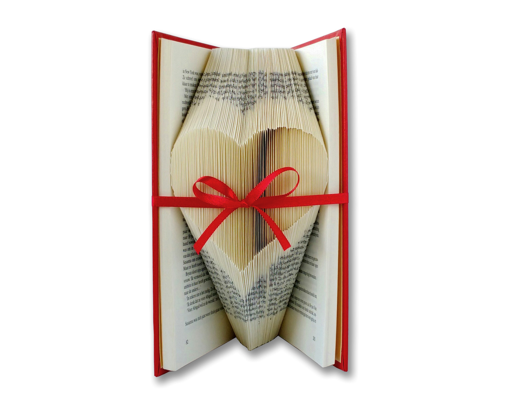 Picture of Folded Book Art - Best & Most Clear Tutorial Available