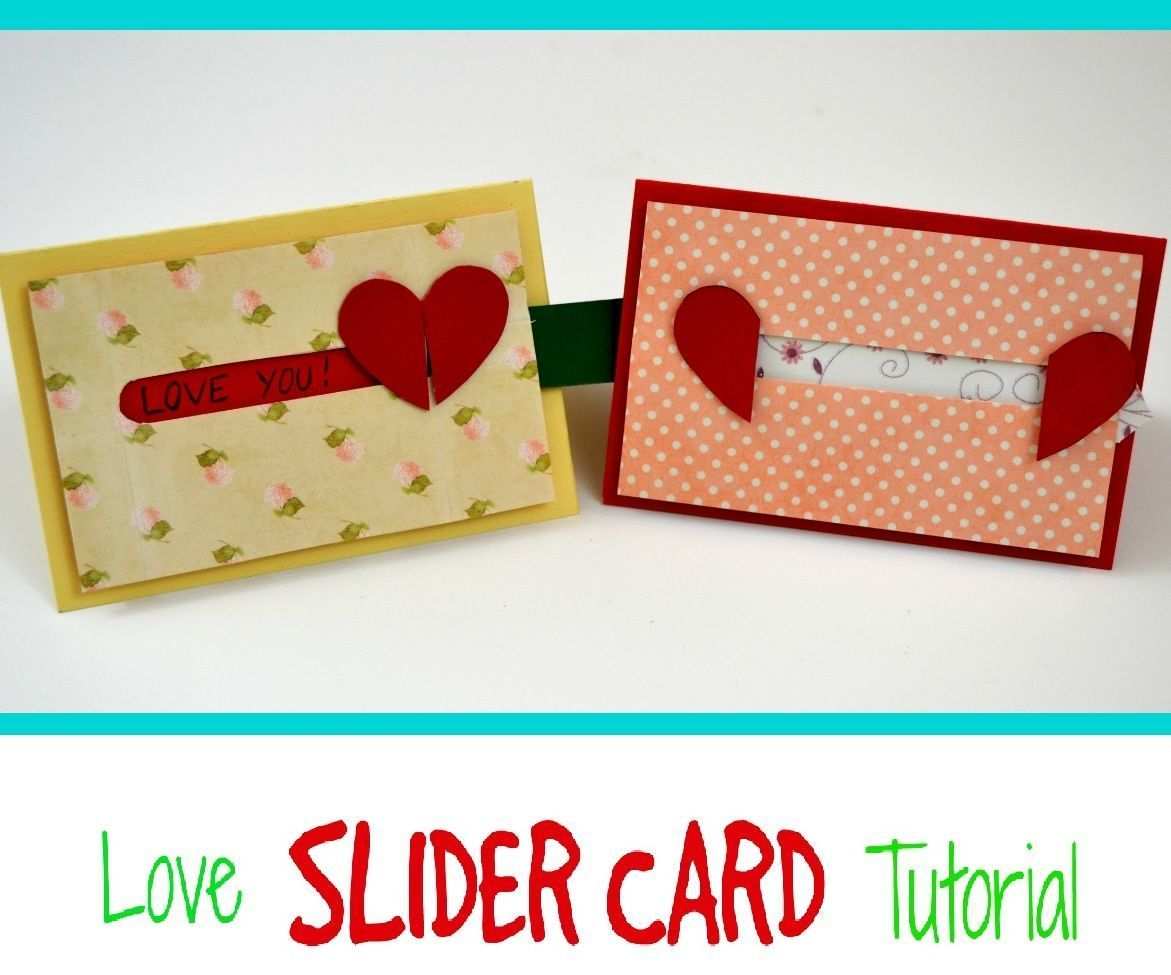 how to make a valentine's day card  sliding heart