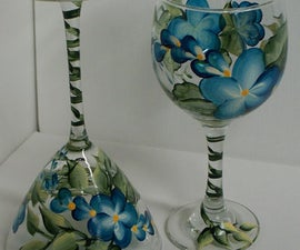 Hand Painting Wine Glasses