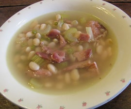 Dutch Oven Ham Hock and White Bean Soup