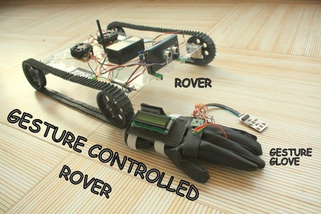 GESTURE Controlled Arduino Based Rover ( Wireless + Line Following )