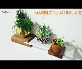 Upcycled Marble Floating Shelf