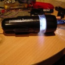 Joule thief bicycle light (front)