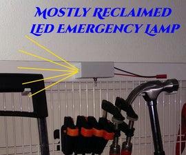Mostly Reclaimed DIY LED Emergency Lamp