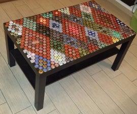 Beer caps table top