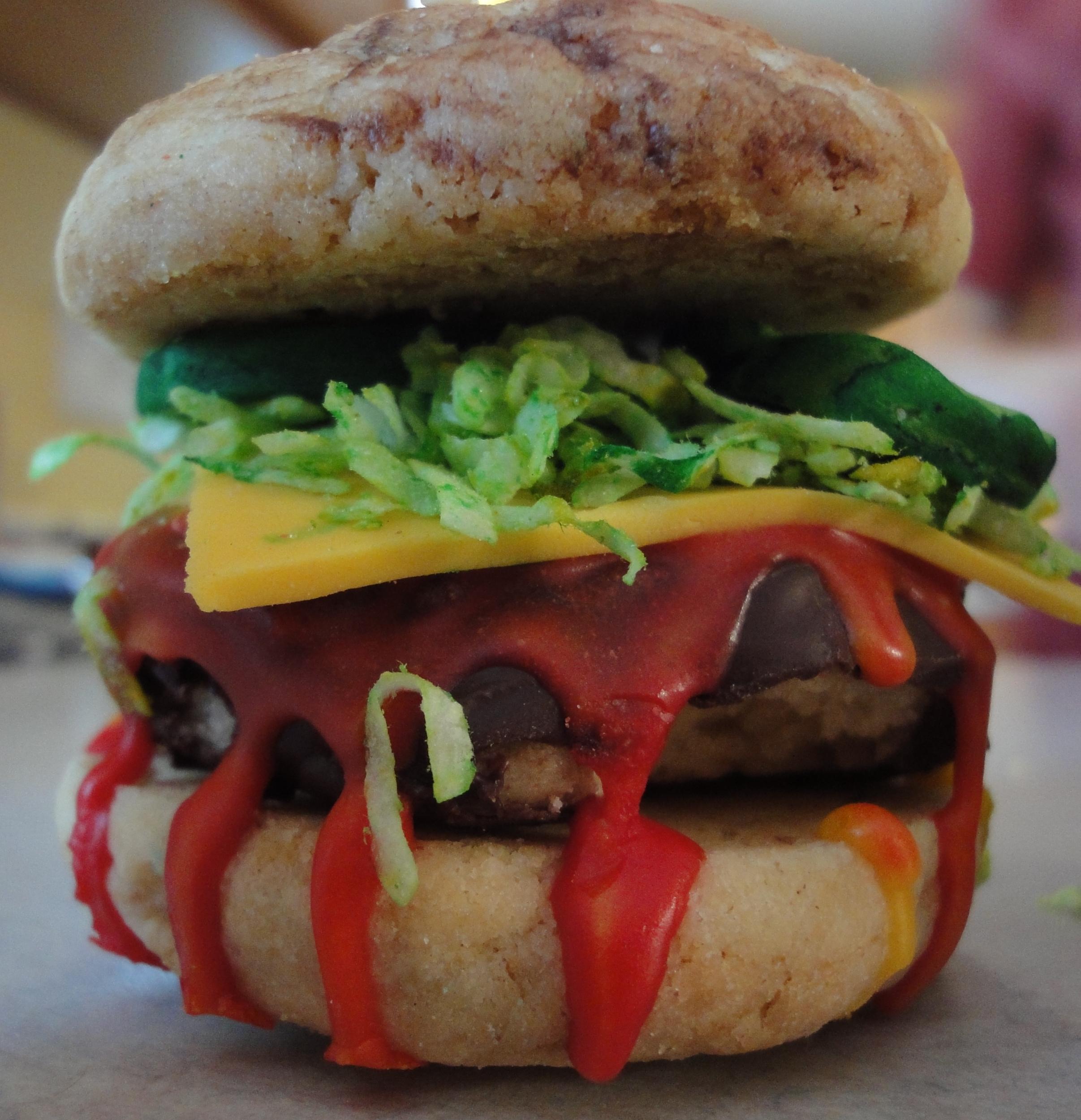 Picture of Hamburger/Chicken Slider Cookies