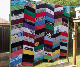 Herringbone Chevron T-Shirt Quilt
