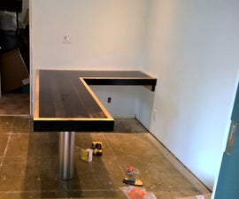 Reclaimed Wood L-Shaped Desk