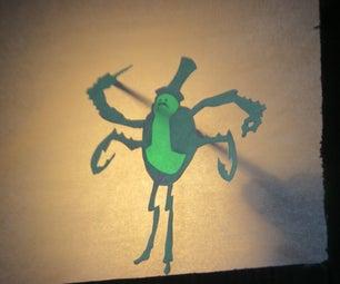 Make a Bah Humbug Paper Shadow Puppet