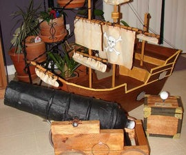 Pirate Ship and Air Cannon Carnival Game