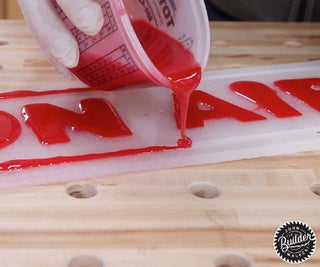 DIY Epoxy Resin Sign With LEDs