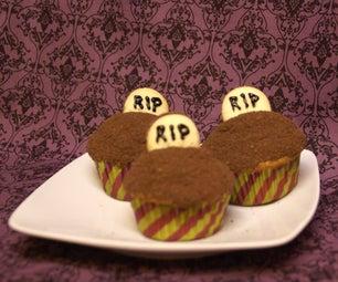 Easy Gravestone Cupcakes