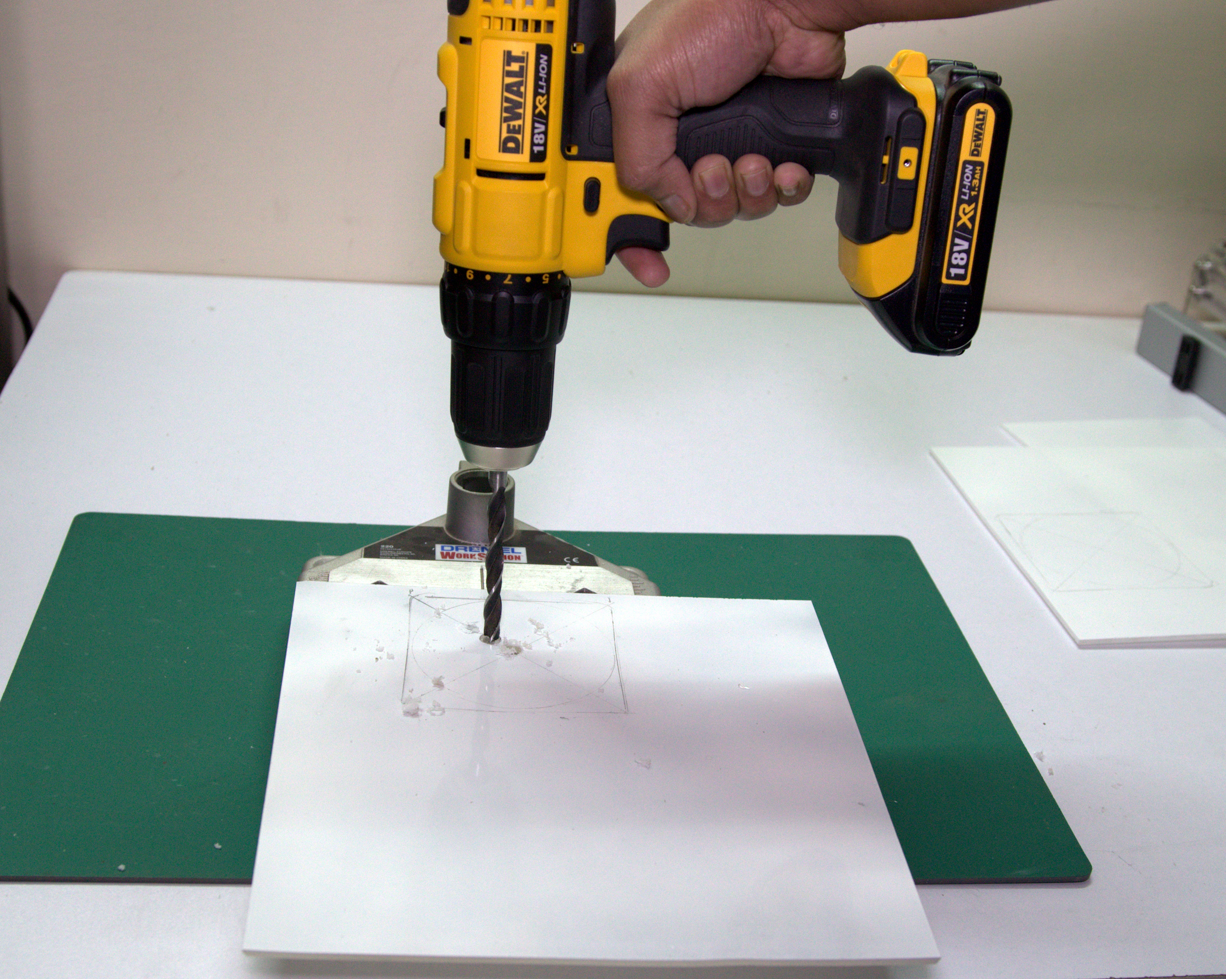 Picture of Making Holes for Air Flow