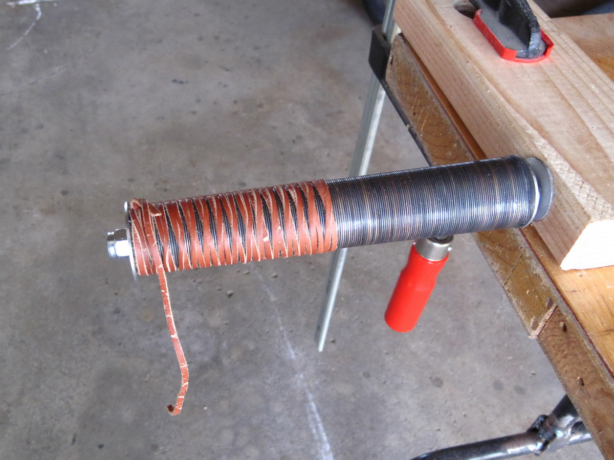 Picture of Leather Wrapping the Handle