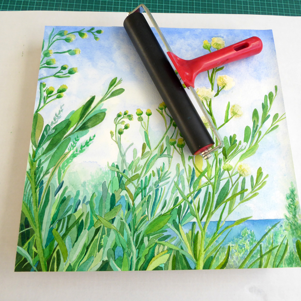 Picture of Glue Your Painting to the Wooden Panel