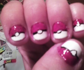 Pokeball Fingernails