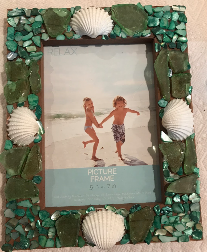 Picture of DIY Sea Glass Seashell Frame