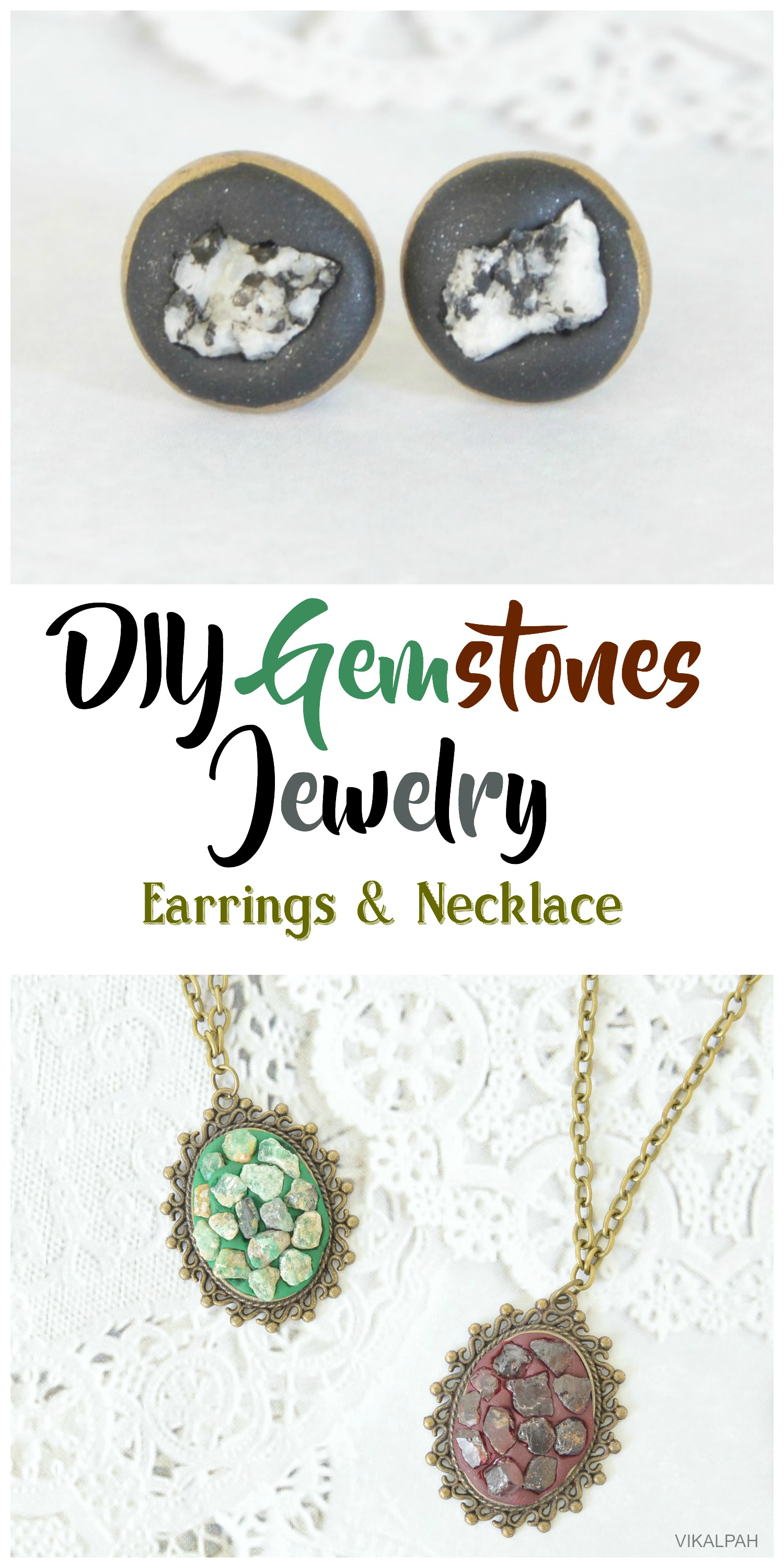 Picture of DIY Gemstone Jewelry - Earrings & Necklace