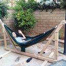DIY Wooden Hammock Stand