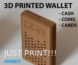 3d Printed WALLET