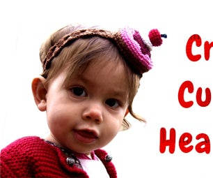 Crochet Cupcake HeadBand