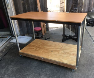 Table Conversion Into Wheeled Cart