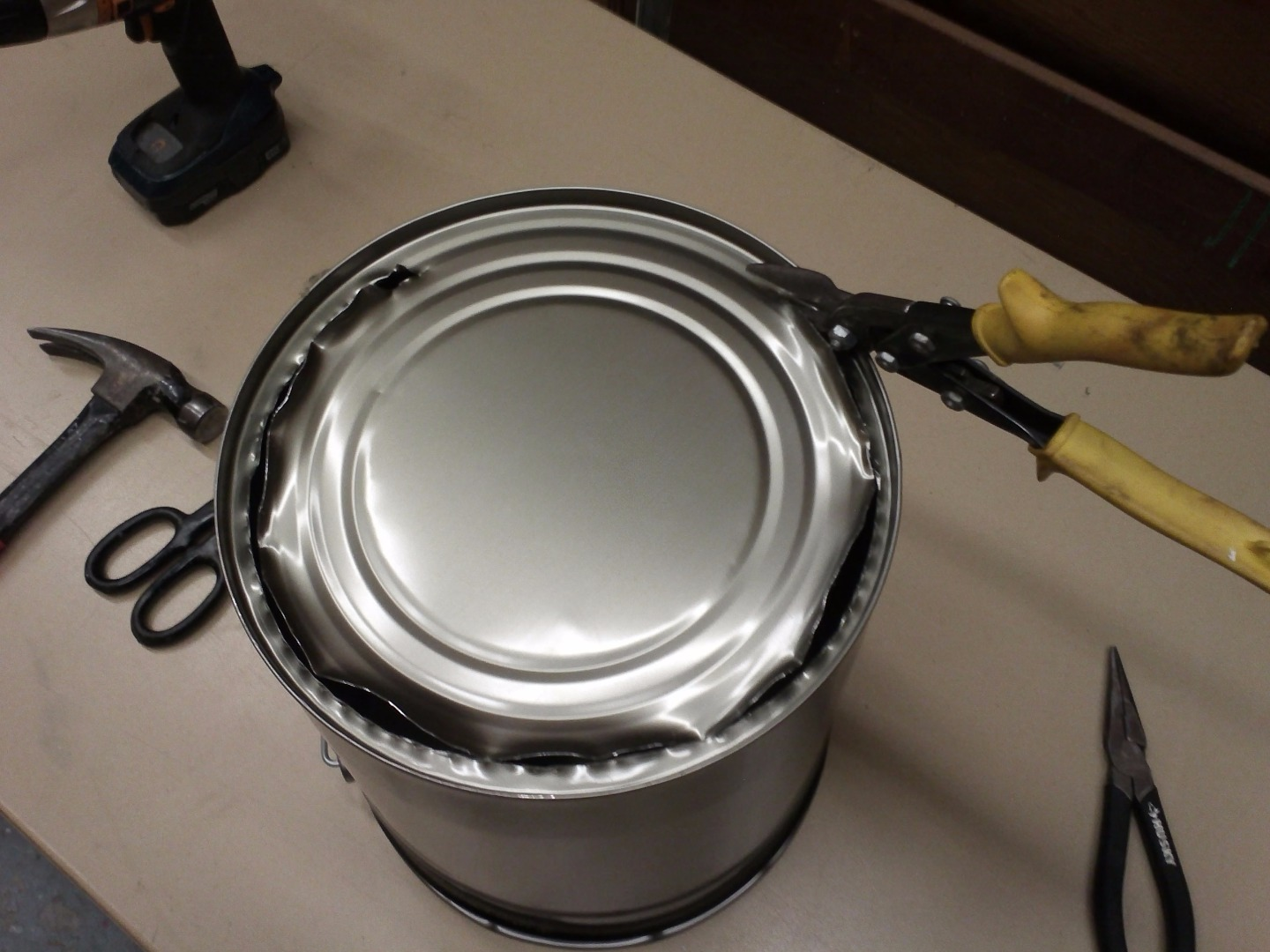 Picture of Cut Through the Bottom of the Pail and Remove the Handle