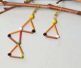 Beebeecraft Tutorials on Making Bugle Beads Earrings