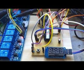 Arduino Home Irrigation System With a 7 Segment Display