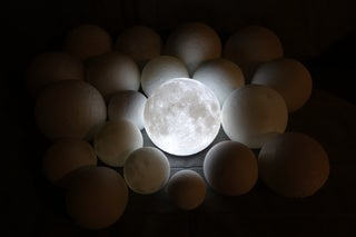 High Detailed Moon Lamp 18 Steps With Pictures Instructables