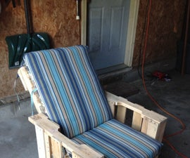 Back Deck Pallet Chair