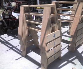 The ultimate, heavy duty, stackable, bullet proof, extreme saw horses!