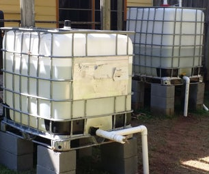 DIY 600 Gallons Rainwater Irrigation System