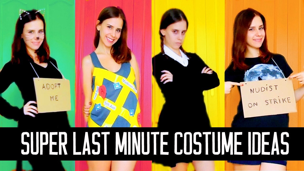 Extremely Last Minute Diy Halloween Costume Ideas