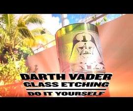 Star Wars Darth Vader Glass Engraving - DIY Dremel Project