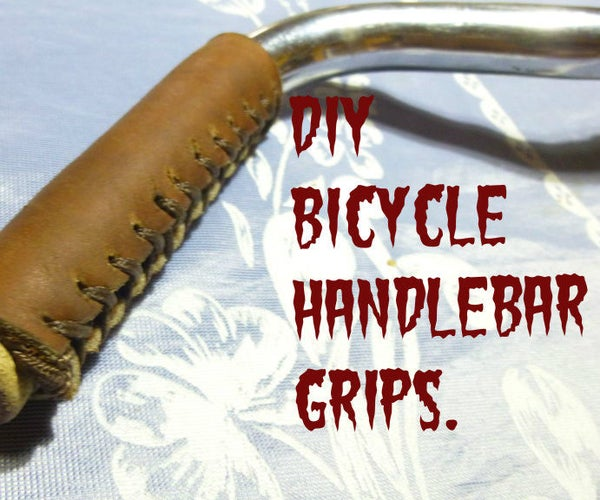 Leather and Paracord Bicycle Grips.