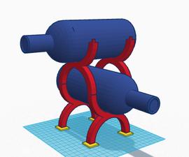 3D Modular Wine Rack