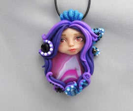 Fairy Gemstone Pendant Necklace