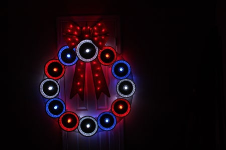Pie Tin Holiday Wreath With GE Color Effects Lights