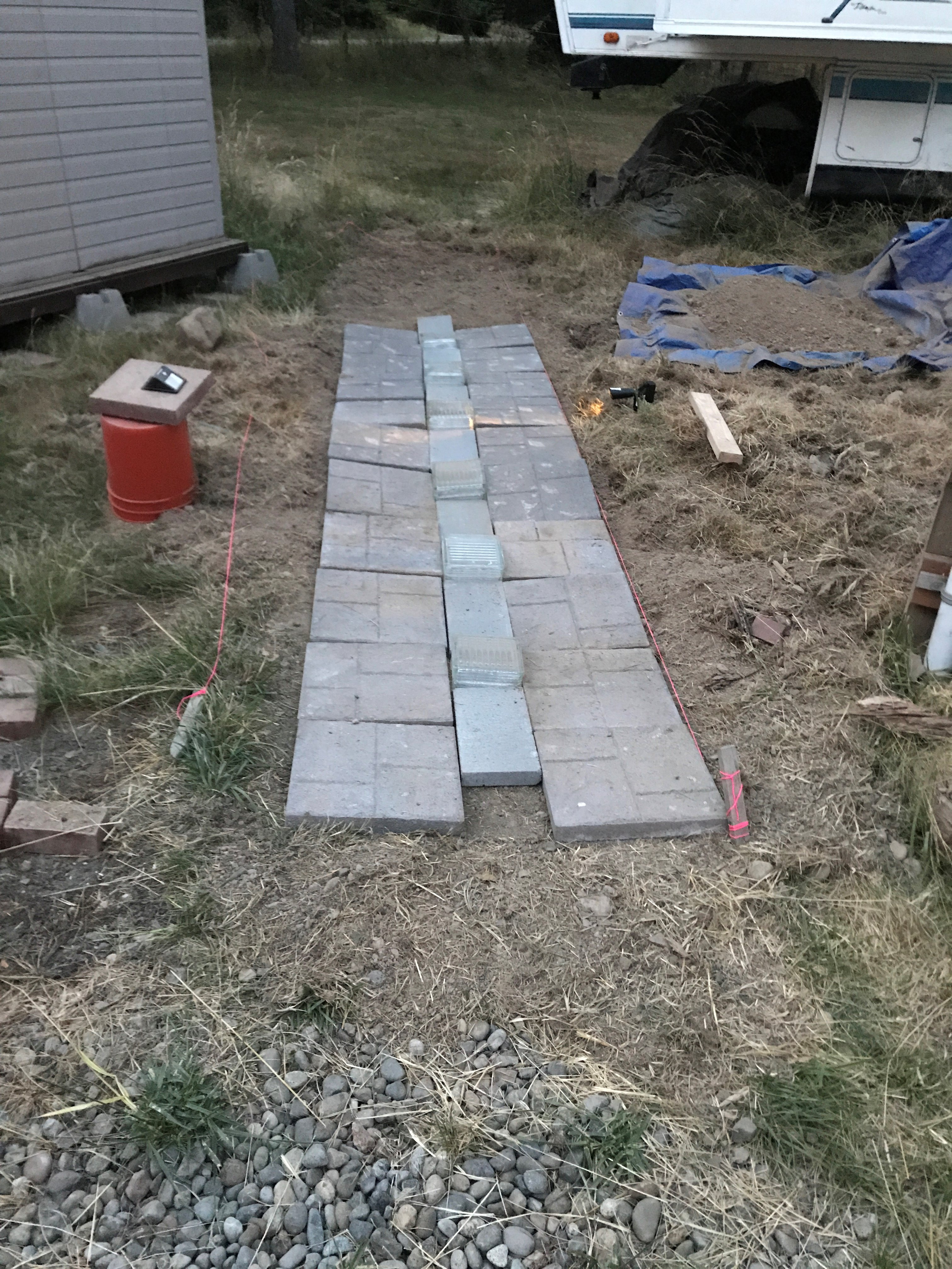 Picture of Basics of Making a Paver Based Pathway - Part 1 Prepping and Digging.