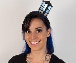 DIY LED Light-up Tardis Fascinator Hat