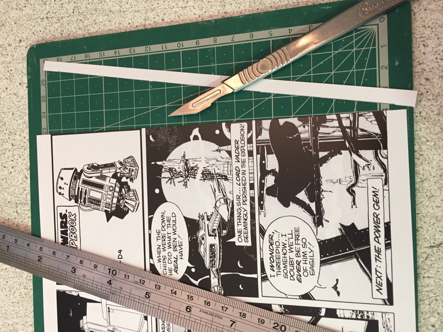 Picture of Cutting Your Paper.