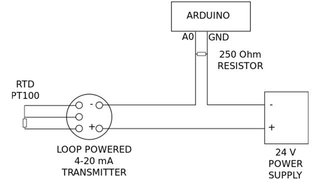 arduino temperature measurement with rtd pt100 4 20ma transmitter 5 DB Drive Amp Wiring Diagram