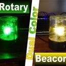Mini Dual Color Rotary Beacon Warning Light