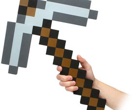 How to make a Real Minecraft Pickaxe ($3)
