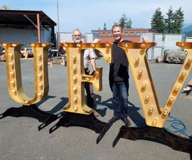 "Massive ""Marquee Letter"" Decorations!"