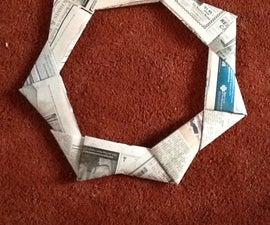 Newspaper Frisbee