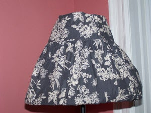 Removable Skirt Lampshade Covering