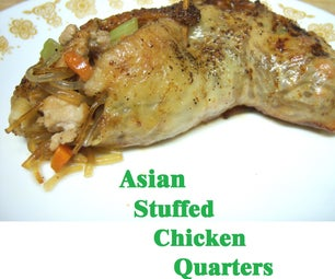 Asian Stuffed Chicken Quarters